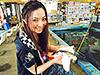 釣り美女性達、富田千穂さんです
