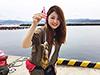 釣り美女性達、松尾沙織さんです