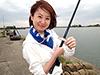 釣り美女性達、中村百合さんです
