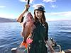 釣り美女性達、水谷早恵さんです