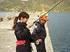 釣り美女性達、田邊阿梨紗さんです