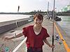 矢田美沙希、釣り人写真