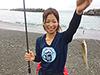 杉浦里奈、釣り人写真
