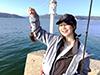 宮崎友香子、釣り人写真