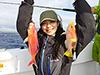 真栄城美鈴、釣り人写真