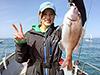 大須賀咲香、釣り人写真