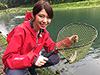 麻生千恵、釣り人写真