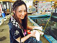 女子釣り、 富田千穂