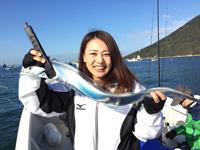 女子釣り、 藤井南花