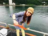 女子釣り、 我満紗千子