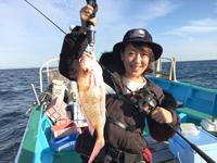 女子釣り、 大島真由美