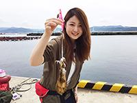 女子釣り、 松尾沙織