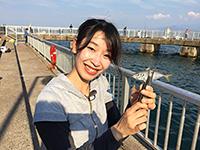 女子釣り、 倉本真梨菜
