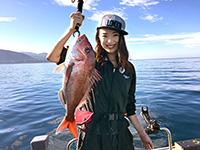 女子釣り、 水谷早恵