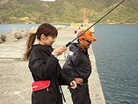 女子釣り、 田邊阿梨紗