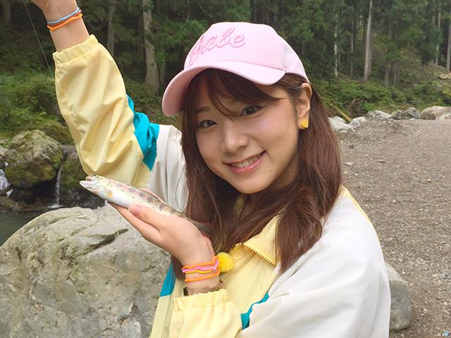 釣り初心者の竹内里佳さん。初めて釣りに挑戦します。