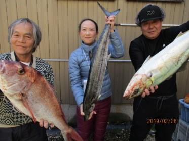 奥村釣船の2019年2月25日(月)1枚目の写真
