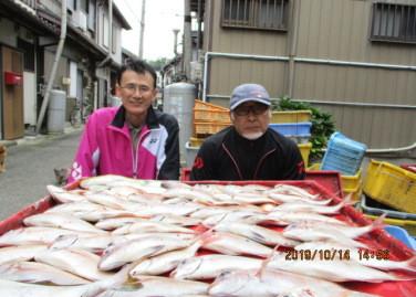 奥村釣船の2019年10月14日(月)3枚目の写真