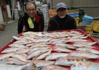 奥村釣船の2019年10月14日(月)4枚目の写真