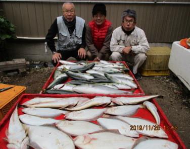 奥村釣船の2019年11月28日(木)4枚目の写真