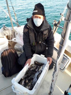 釣り船くわだの2021年1月30日(土)5枚目の写真
