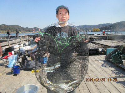 由良海つり公園&釣堀ランドの2021年2月20日(土)3枚目の写真