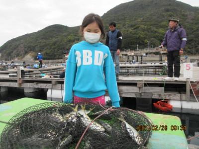 由良海つり公園&釣堀ランドの2021年2月28日(日)3枚目の写真
