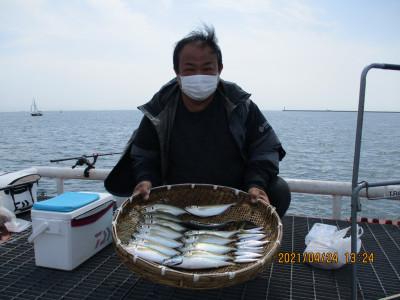 尼崎市立魚つり公園の2021年4月24日(土)1枚目の写真