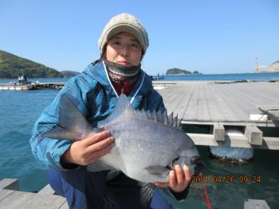 由良海つり公園&釣堀ランドの2021年4月26日(月)1枚目の写真