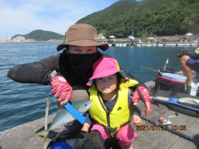 由良海つり公園&釣堀ランドの2021年7月22日(木)1枚目の写真