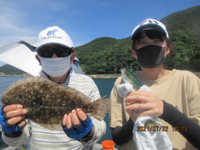 由良海つり公園&釣堀ランドの2021年7月22日(木)3枚目の写真