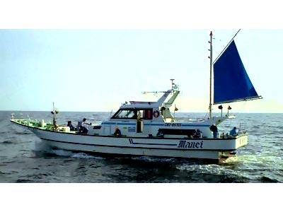 萬栄丸の船と店の写真