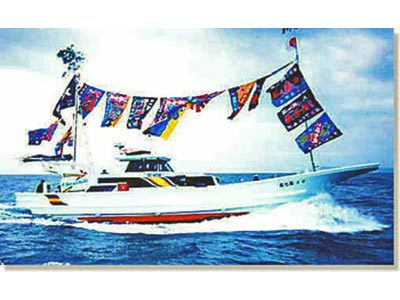 長七丸の船と店の写真