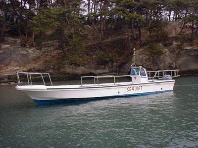 松島シーネットの船と店の写真