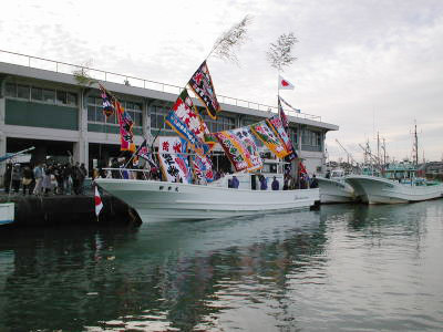 新幸丸の船と店の写真