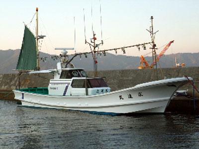 広進丸の船と店の写真