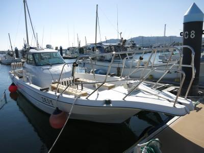 ZEST号の船と店の写真