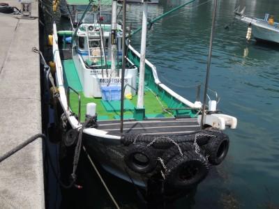 えびす渡船の船と店の写真