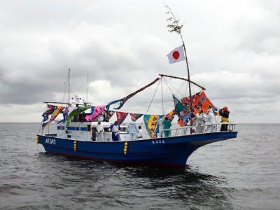 愛正丸の船と店の写真