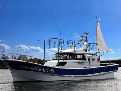 光海丸の船と店の写真